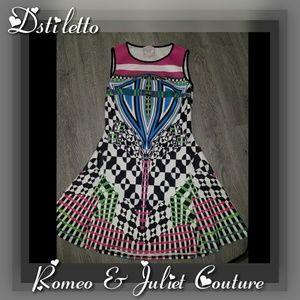 ROMEO & JULIET Sleeveless Retro Color Swing Dress